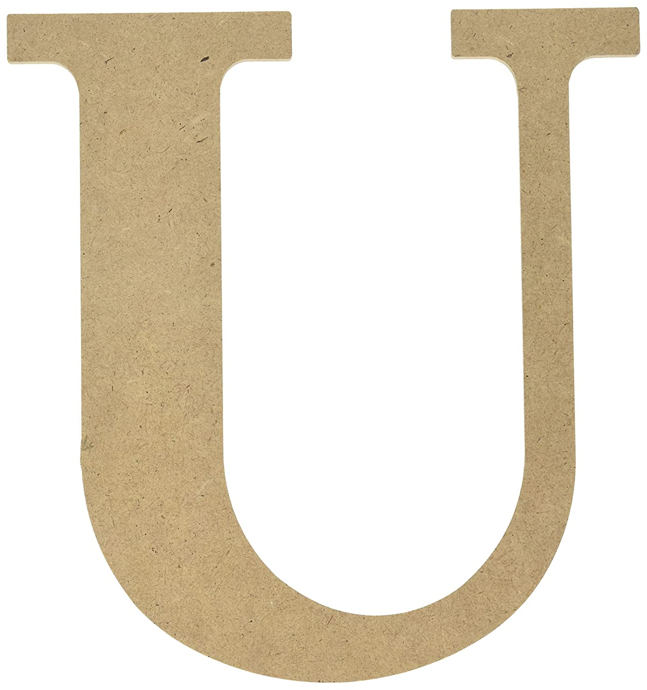 MPI MDF Classic Font Wood Letters and Numbers, 9.5-Inch, Letter-U