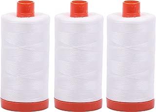 3-PACK - Aurifil 50WT - Natural White, Solid - Mako Cotton Thread - 1422Yds EACH - MK50-2021