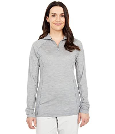 Smartwool Merino 150 Base Layer 1/4 Zip (Light Gray Heather) Women