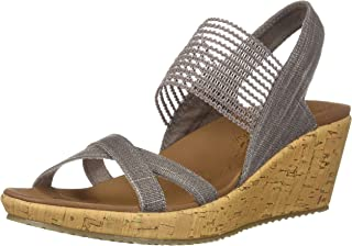 Skechers Women's Beverlee-High Tea Wedge Sandal