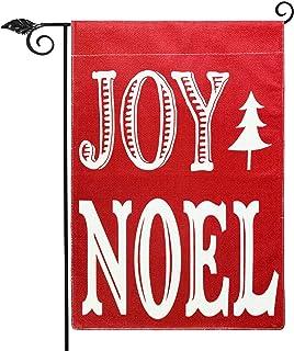 Joy Noel Garden Flag Vertical Double Sided 12.5 x 18 Inch Farmhouse Christmas Winter Holiday Burlap Yard Outdoor Decor,Win...