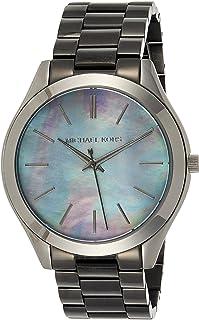 ساعة كوارتز للنساء من مايكل كورس، عرض انالوج وسوار ستانلس ستيل MK3413