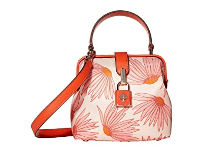 Kate Spade New York Remedy Grand Daisy Small Top-Handle (Pink Multi) Handbags
