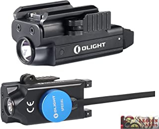 OLIGHT PL-MINI valkyrie 400 Lumen LED Rechargeable compact pistol light, Build-in Lithium Battery, charging cable, quick release mount for glock, s&w, springfield, sig sauer, etc w/LegionArms sticker