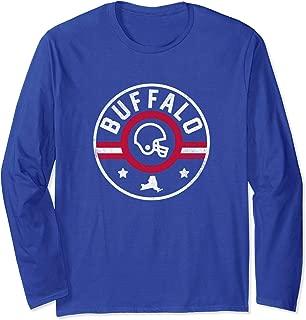Buffalo Football Stars and Stripes New York Outline Long Sleeve T-Shirt