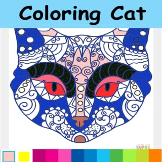cat games : Cat coloring for adults & kids Colouring Cats