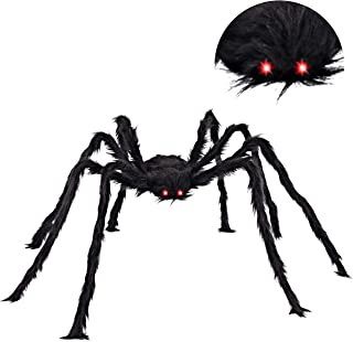 "JOYIN 63"" LED Eyes Hairy Giant Spider for Halloween Indoor and Outdoor Decorations"