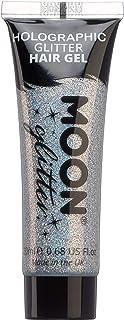 Moon Glitter - Gel para el cabello holográfico con brillantina - 20ml - Plata