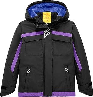 Girl's Waterproof Rain Jacket Thick Winter Coat Skiing Jacket with Hood