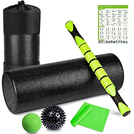 2 in 1 Foam Roller Body building Muscle Massager Trigger Point For Yoga Pilates