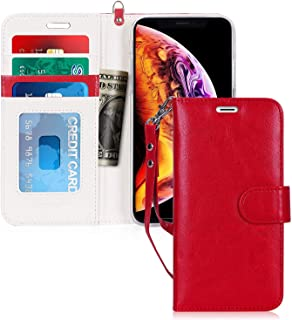 iPhone XR Case, fyy iPhone XR Wallet Case Premium Leather Protector Cover with [Card Slots] Kickstand Flip Case for Apple ...