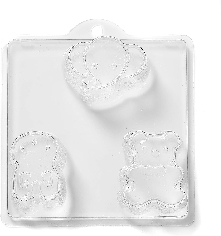 World Of Moulds 3 Cavity Teddy Bomb Many popular brands Directly managed store Elephant Rabbit Soap Bath