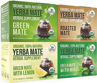 Organic Yerba Mate Tea Bags – Variety Pack – Mate Cocido – Natural..
