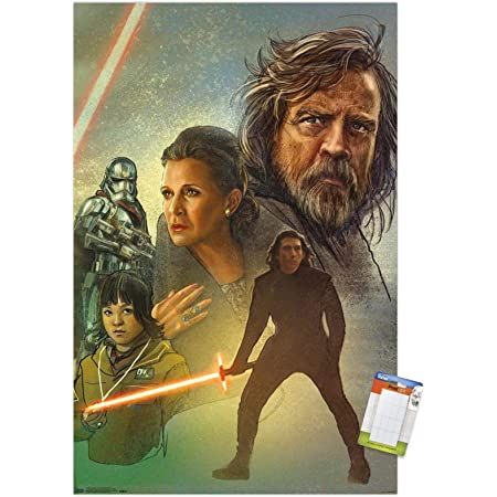 "Trends International Star Wars: The Last Jedi - Celebration Mural Wall Poster, 22.375"" x 34"", Premium Poster & Mount Bundle"