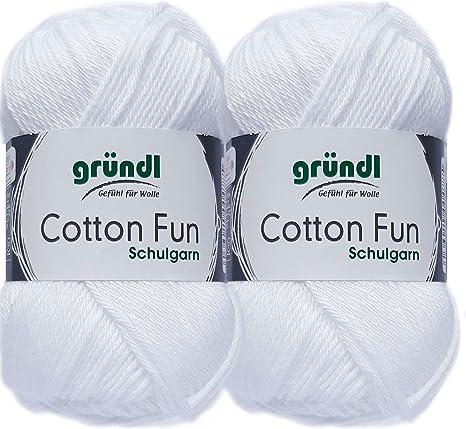 10 Royalblau 1 Anleitung f/ür EIN Meerschwein 2x50 Gramm Gr/ündl Cotton Fun H/äkelgarn Schulgarn