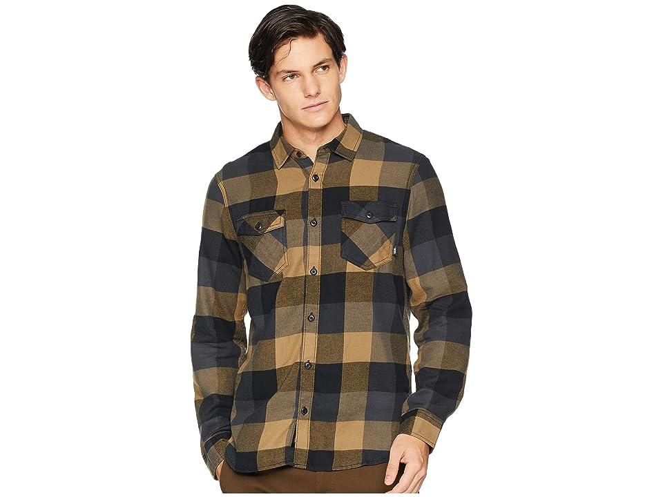 Vans Box Long Sleeve Flannel (Dirt/Black) Men