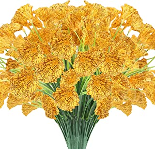 JEMONG 24 Bundles Artificial Flowers Outdoor UV Resistant Fake Flowers No Fade Faux Plastic Plants Garden Porch Window Box...
