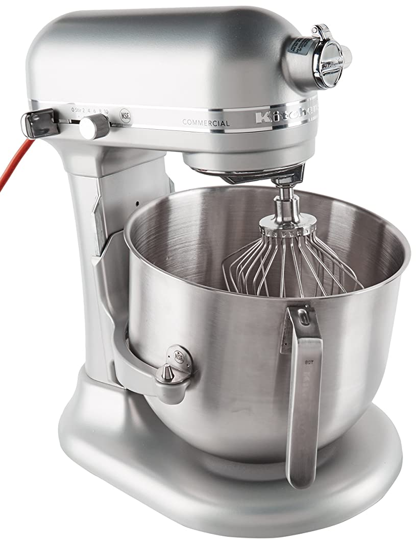 KitchenAid KSM8990NP 8-Quart Commercial Countertop Mixer, 10-Speed, Gear-Driven, Nickel Pearl (Renewed)