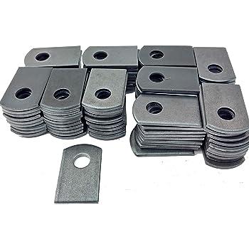 50 Weld On Steel Flat Tab Brackets 1 1//2 X 2 5//8 X 1//8 Thick Weld On Tabs 3//8 Hole Steel Weld Tab