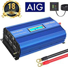 Power Inverter 2000w DC 12Volt to AC 120Volt with 3AC Outlets Dual 2.4A USB Ports Remote..