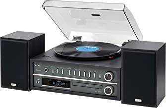 Teac MCD800B 20-watt Turntable System with AM/FM/CD/Wireless Technology in Black