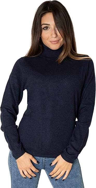 Marino marini - donna - maglia dolcevita - cashmere 100% B08N5FLRMH