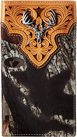 M&F Western - Deer Skull Mossy Oak Camo Rodeo Wallet