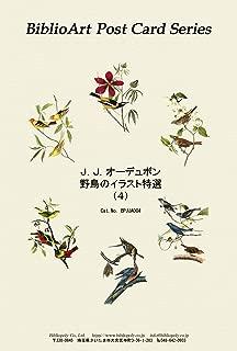 BiblioArt Post Card Series J. J. オーデュボン 野鳥のイラスト特選 (4) 6枚セット(解説付き)
