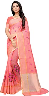 leeza store Women's Net Saree With Unstitched Blouse Piece