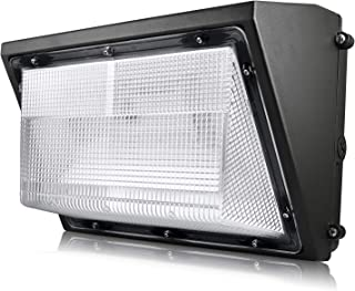 Luxrite 60W LED Wall Pack Light Fixture, 7085 Lumens, 250W HID HPS Equivalent, 5000K Bright White, DOB, 120-277V, Dimmable, Commercial and Residential Outdoor Lighting, IP65 Waterproof Rated