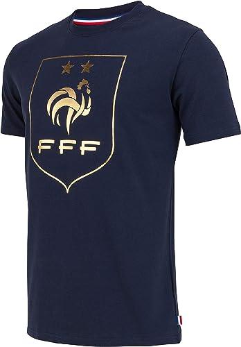 Equipe de FRANCE de football T-Shirt FFF - 2 étoiles - Collection Officielle