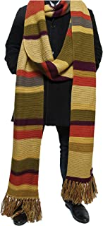 Doctor Who Scarf - 18ft Long Season 16-17 Official BBC Doctor Who Fourth Doctor Scarf by LOVARZI