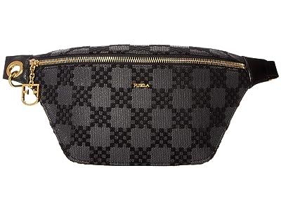 Furla Fortezza XL Belt Bag (Onyx) Handbags