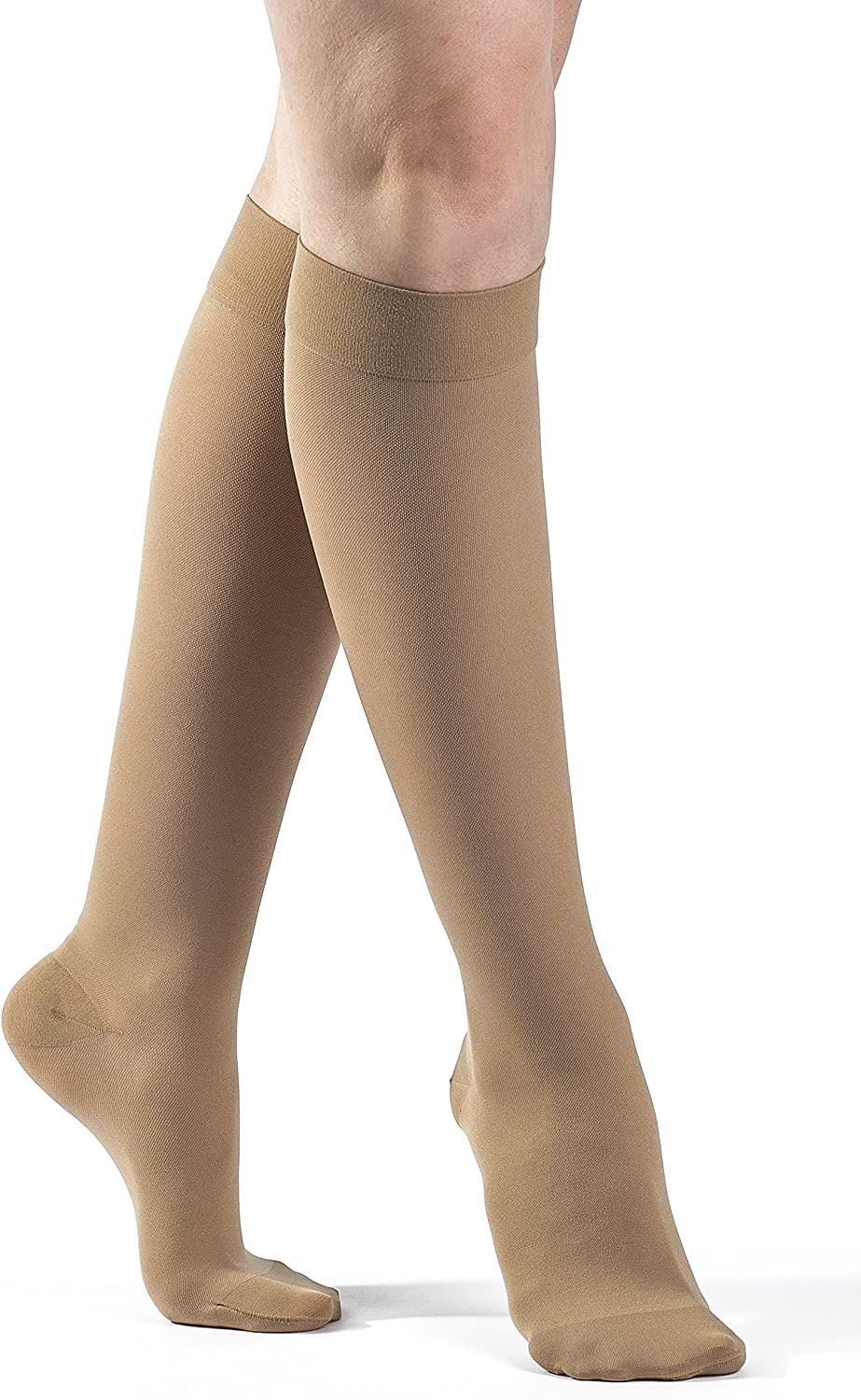 SIGVARIS Women's Select Comfort 860 Closed Toe Calf High Compression Hose 2030mmHg