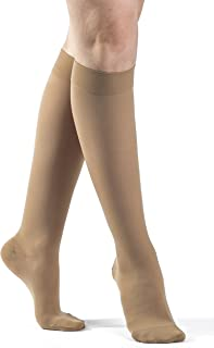 cf25683c8d1 Sigvaris 862 Select Comfort Women s Closed Toe Knee Highs - 20-30 mmHg Long  Suntan