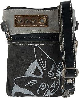 Sunsa Damen Tasche kleine Umhängetasche, Handtasche aus Canvas. Nachhaltige Produkte, Vintage Shoulder Bag, Schultertasch...