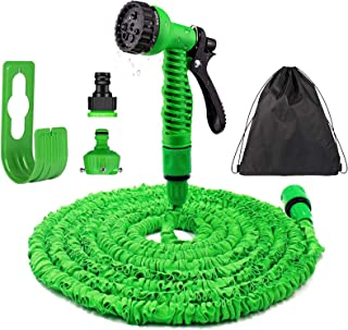Garden Hose - 100FT Garden Hose Expandable with 7 Function Spray Gun No-Kink, 30m Flexible Water Hose Pipe for Plant / Pet...