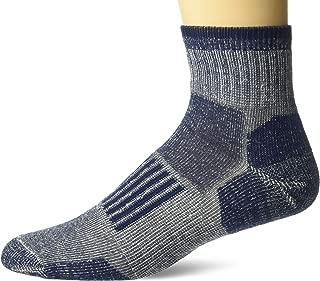 Wise Blend Men's 85% Merino Wool Knit Everyday Quarter Socks 2 Pair Pack