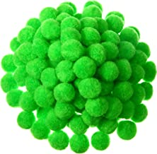 500 Pieces 1 Inch Craft Pom Pom Balls for DIY Creative Crafts Decorations Kids Craft Project Home Party Holiday Decorations (Fruit Green)