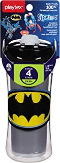 Playtex Sipsters Stage 4 Super Friends Spill-Proof, Leak-Proof, Break-Proof Insulated Sport Spout Sippy Cups - 12 Ounce - ...
