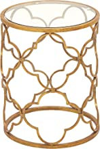 Deco 79 67056 Metal Glass Accent Table, 16 x 20, Gold