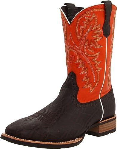 Ariat Men's Quickdraw Western Cowboy botas, Chocolate Elephant Mandarin, 13 M US