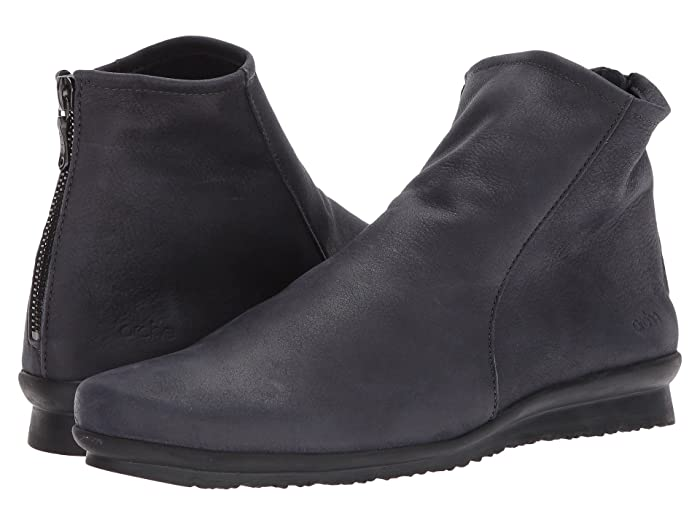 Arche  Baryky (Grey Waxed Leather) Womens Zip Boots