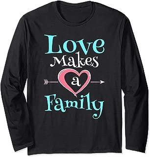 Adoption Foster Care Shirt Ribbon Foster Care Awareness Long Sleeve T-Shirt