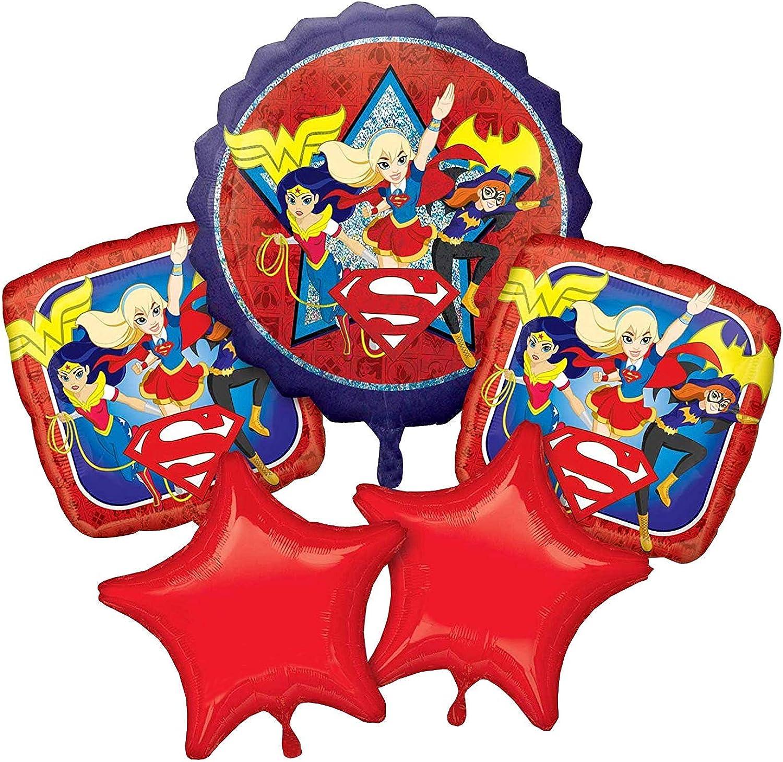 3 X DC Super Hero Girls Foil Balloon Bouquet