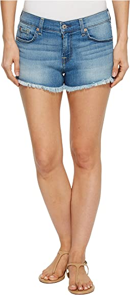 7 For All Mankind Cut Off Shorts in Bright Palm