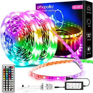 Phopollo Led Lights 65.6ft Long Led Strip Lights for...