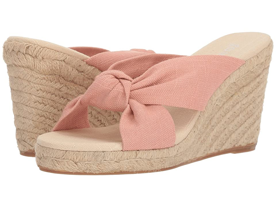 Soludos Knotted Wedge 90mm (Dusty Rose) Women