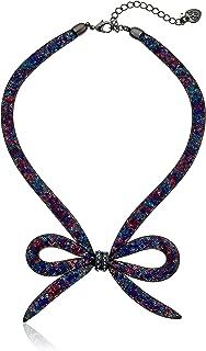 Dark Shadows Bow Frontal Necklace