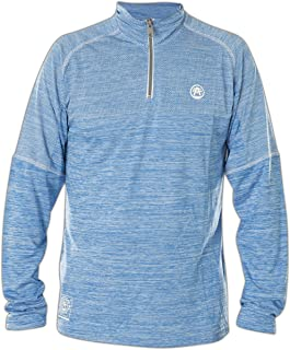 Field Dream Zip Mock Neck Long Sleeve Sport T-Shirt Top for Men